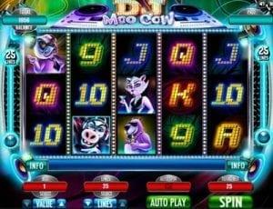 DJ Moo Cow Slots RTGs