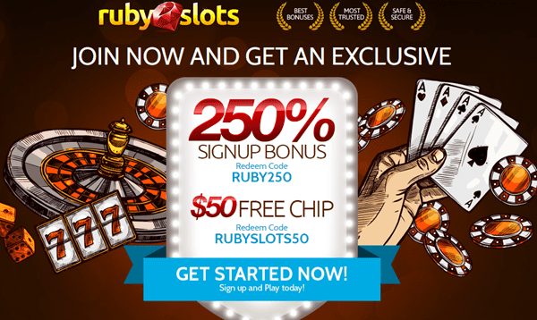 Ruby Slots casino Bonus Codes