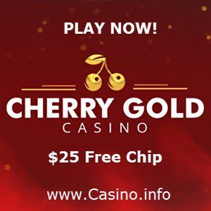 Cherry Gold Casino $25 No Deposit Bonus Codes