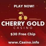 Cherry Gold Casino $30 no deposit bonus codes