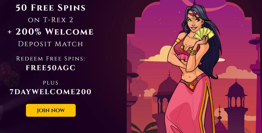 Aladdin's Gold Casino no deposit bonus codes