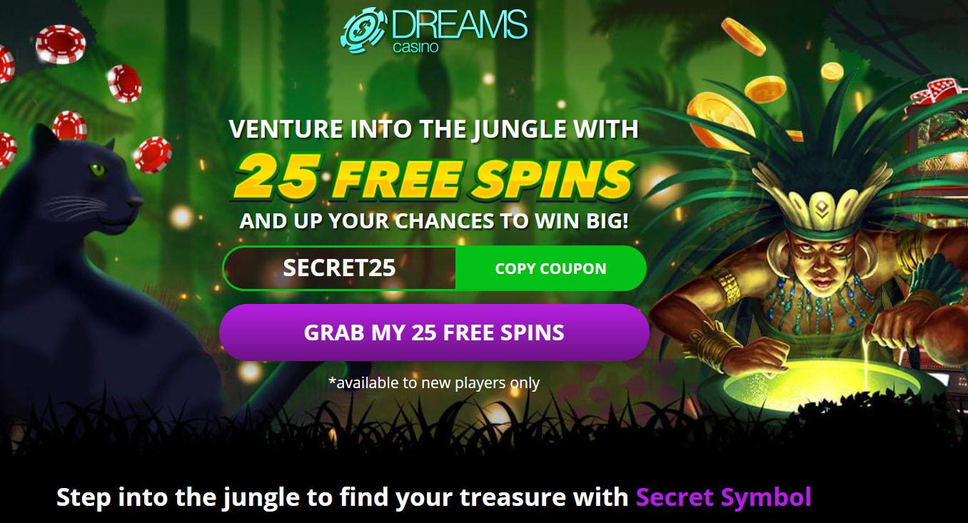 Secret Symbol Slot 25 Free Spins New Offer