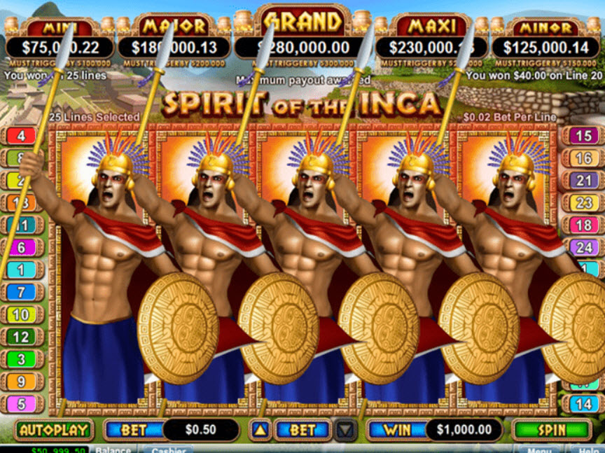 Spirit of the Inca Game