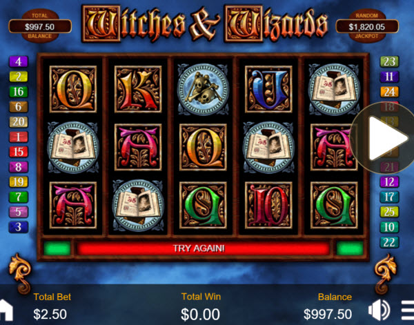 Witches & Wizards Slot Machine