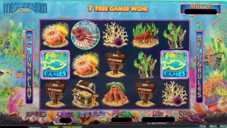Megaquarium Slot Machine