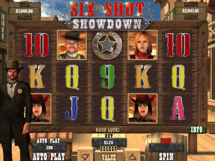Six Shot Showdown Slot Machine