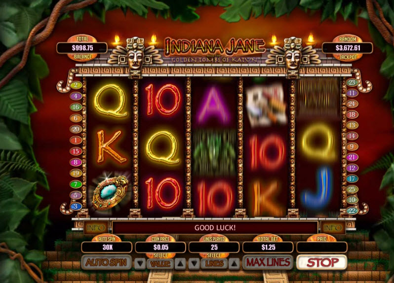 Indiana Jane Slot Machine