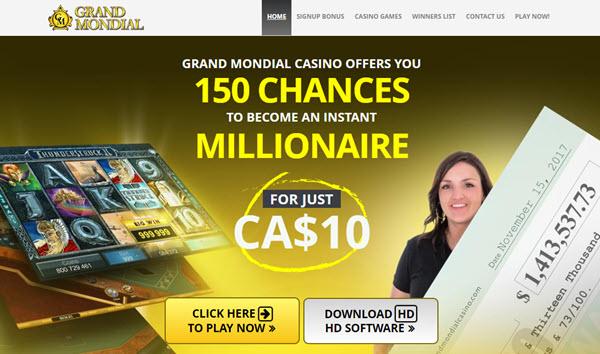 Grand Mondial Casino Canada Bonus